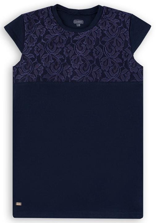 Детская блуза для девочки BZL-20-2 (цвет белый,персиковый,синий. Размеры 122-140)