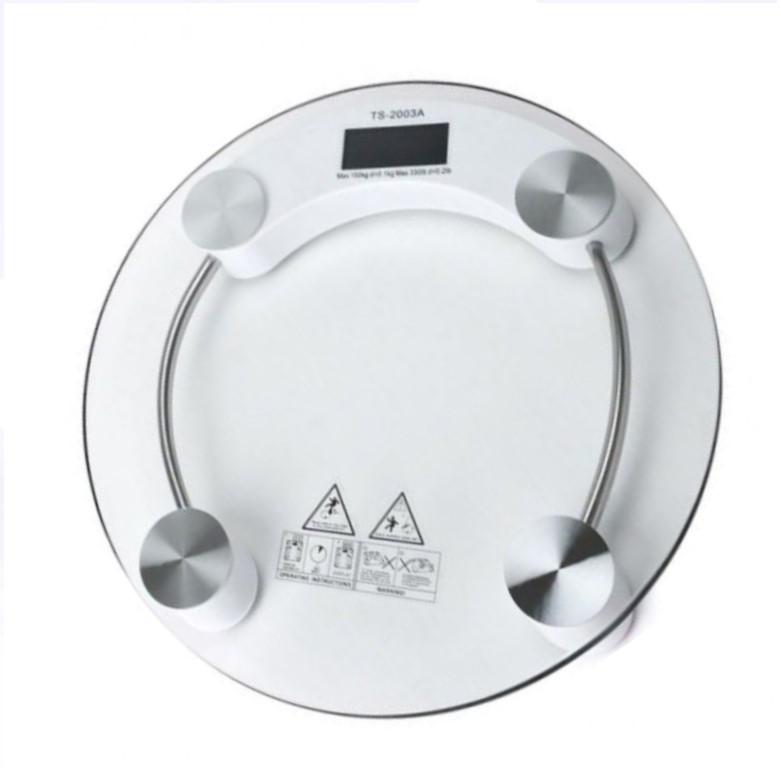 Круглые напольные стеклянные электронные весы для точного измерения собственного веса до 180 кг ACS 2003 А