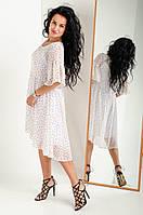 """Платье-двойка из шифона """"317"""" размеры 48-50."""
