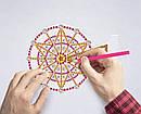 Набір для творчості Crystal art світлодіодний світильник з алмазною мозаїкою Колесо огляду (MI_DP07), фото 4