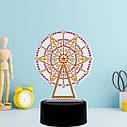 Набір для творчості Crystal art світлодіодний світильник з алмазною мозаїкою Колесо огляду (MI_DP07), фото 2