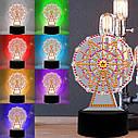 Набір для творчості Crystal art світлодіодний світильник з алмазною мозаїкою Колесо огляду (MI_DP07), фото 8