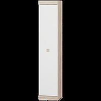 Пенал в гостиную Соната закрытый (Комби Сонома + Белый)