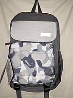 Городской рюкзак молодёжный унисекс Juxianzi Камуфляж серый