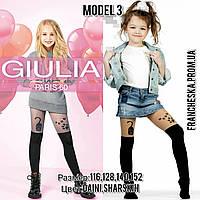 """Колготки для дівчинки з імітацією панчохи """"Котик"""" щільністю 60 den Paris (model 3)"""