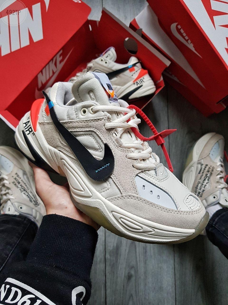 Мужские кроссовки Nike M2K Tekno x Off White Grey