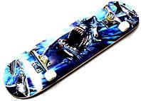 Скейтборд и роллерсерф Профессиональный скейт Fish Skateboard COOL SHARK из канадского клена до 80 кг Польша