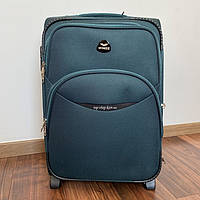 Дорожний чемодан тканевый Wings на 2 колесах 35 л маленький зеленый, фото 1