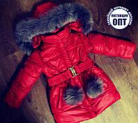 Зимнее пальто на девочку размеры 86 - 152, фото 1