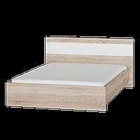 Кровать двухспальная Соната 1400 (Комби Сонома + Белый)