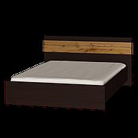 Кровать двухспальная Соната 1600 (Комби Венге темный + Аппалачи)