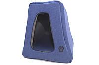 Домик пирамида для животных Лофт Синий 300х400х350, синий