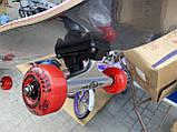 Скейт деревянный, Скейтборд, натуральный канадский клен, для трюков, Fish Skateboards,Красный Череп, премиум!, фото 2