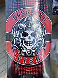 Скейт деревянный, Скейтборд, натуральный канадский клен, для трюков, Fish Skateboards,Красный Череп, премиум!, фото 7