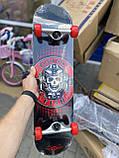 Скейт деревянный, Скейтборд, натуральный канадский клен, для трюков, Fish Skateboards,Красный Череп, премиум!, фото 6