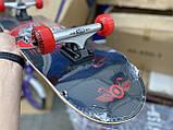 Скейт деревянный, Скейтборд, натуральный канадский клен, для трюков, Fish Skateboards,Красный Череп, премиум!, фото 5