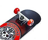 Скейт деревянный, Скейтборд, натуральный канадский клен, для трюков, Fish Skateboards,Красный Череп, премиум!, фото 8
