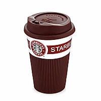 Чашка керамическая Starbucks 008 коричневая (1848)