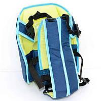 Гр Рюкзак-кенгуру №6 - 0497 (1) сидя, цвет синий. Предназначен для детей с трехмесячного возраста