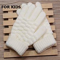 Детские вязанные перчатки Shouhushen Белый