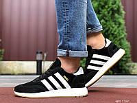 Мужские кроссовки Adidas Iniki черные с белым, фото 1