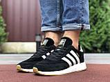 Мужские кроссовки Adidas Iniki черные с белым, фото 4