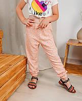 Детские летние штанишки для девочки Paty Kids цветочки персиковый 31703