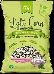 Здоровый попкорн Light Corn Сметана и Зелень (20 грамм)