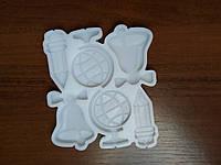 2D Форма силиконовая молд школьный глобус звонок карандаш молд для изомальта леденцов шоколада