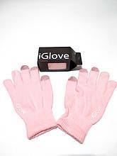 Перчатки для сенсорных экранов iGlove розовые