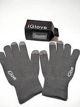 Перчатки для сенсорных экранов iGlove тёмно-серые