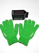 Перчатки для сенсорных экранов iGlove зелёные