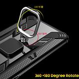 Противоударный защитный чехол KEYSION для Xiaomi Redmi Note 9 с кольцом Цвет Тёмно-синий, фото 6