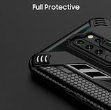 Противоударный защитный чехол KEYSION для Xiaomi Redmi Note 9 с кольцом Цвет Тёмно-синий, фото 5