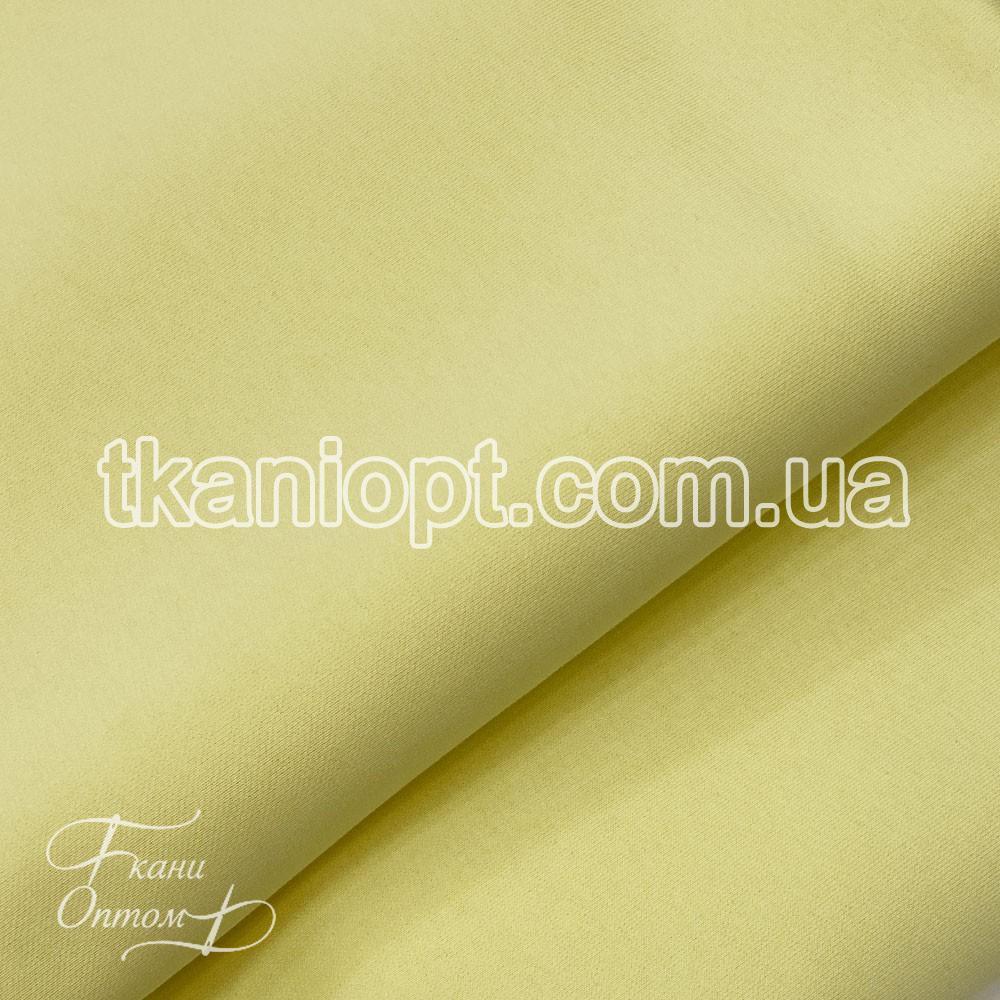 Ткань Трехнитка с начесом Турция (светло-желтый)