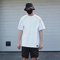 Футболка мужская белая с рефлективным кантом модель Сайбот (Saibot) бренд ТУР  размер  S, M, L, XL M