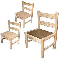 Стілець для дит садка, спинка, сидіння тверді бук (не фарбований)