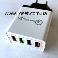 Адаптер Fast Charge 220v 4 USB, фото 1