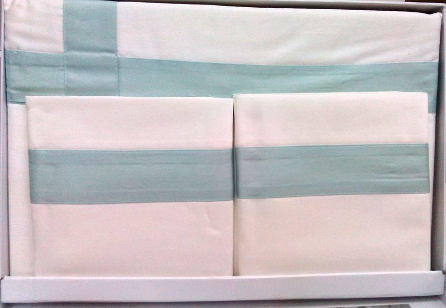 Комплект постельного белья Tivolyo Home BANDA двуспальный - евро, Белый