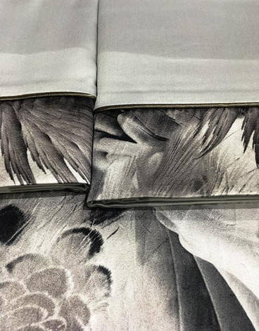 Постельное белье Tivolyo Home GENESIS Gri KRINKLE двуспальный - евро, фото 2