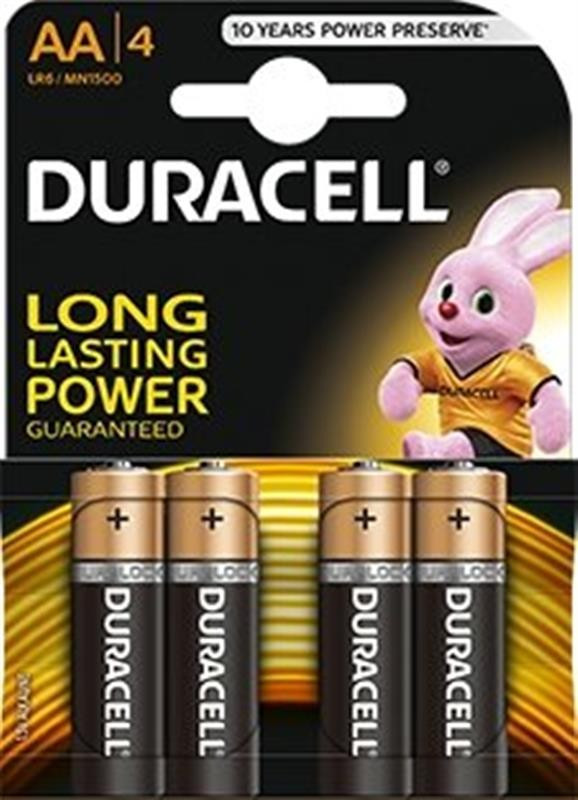 Батарейка Duracell Duralock Basic AA/LR06 BL 4шт