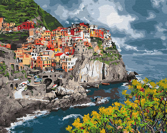 Картина по Номерам Городок у моря 40х50см RainbowArt, фото 2