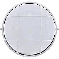Світильник настінний ЕВРОСВЕТ WOL-10 60Вт Е27 коло білий з решіткою IP65