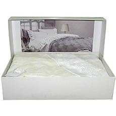 Постельное белье с покрывалом Gelin Home  BUSRA двуспальный - евро, персиковый, фото 2