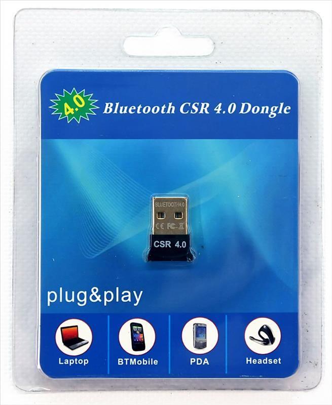 Bluetooth-адаптер USB - Bluetooth 4.0 HQ-Tech BT4-S1, Extra Slim, Qualcomm, блистер