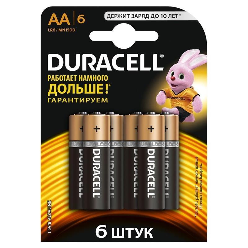 Батарейка Duracell Duralock Basic AA/LR06 BL 6шт