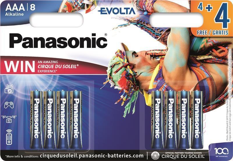Батарейка Panasonic Evolta Power Rangers AAA/LR03 BL 8 (4+4) шт