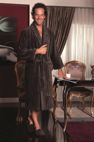 Набор Soft cotton PLATINUM халат и два полотенца коричневый, S 44-46, фото 2