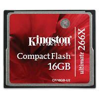 Карта памяти Kingston Compact Flash Card 16GB 266x (CF/16GB-U2)