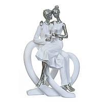 """Фигурка """"Влюбленные в белом"""" 24.5 см (2007-045)"""
